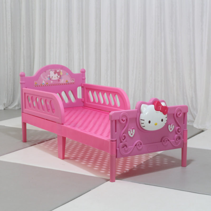 Baby Bed Plastic Cartoon Bed Thickened Kindergarten Special Bed Kitt Bed Cot Baby Bed Guardrail Baby Bed