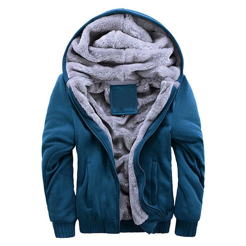 Jodimitty 2020 겨울 새로운 tracksuit 남자 패션 두꺼운 벨벳 캐주얼 후드 따뜻한 두꺼운 까마귀 고체 masculino 스웨터