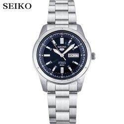 Seiko Horloge Mannen 5 Automatische Horloge Top Luxe Merk Sport Mannen Horloge Set Mannen Horloge Waterdicht Horloge Relogio Masculino SNZG15J1