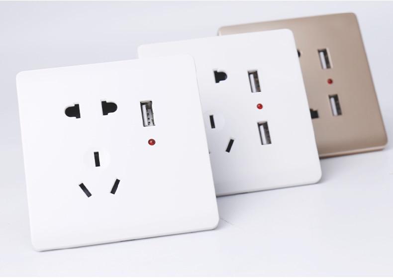 便宜USB插座多功能五孔_08