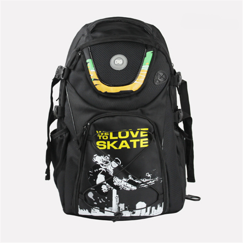 FSK Slalom Inline Skates Shoes DC Skating Bag For SEBA Series For Powerslide PS RB Roller WE LOVE TO SKATE Backpack Black Scrawl