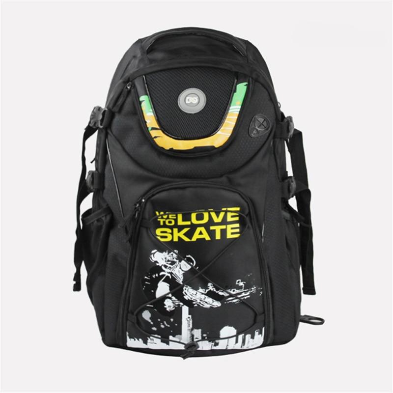 FSK Slalom Inline Skates Shoes DC Skating Bag For SEBA Series For Powerslide PS RB Roller WE LOVE TO SKATE Backpack Black Scrawl
