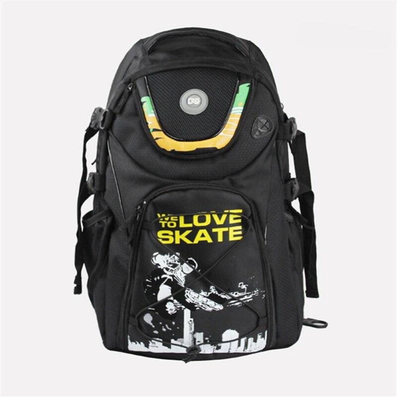FSK slalom patins à roues alignées chaussures DC sac de patinage pour SEBA série pour powerslide PS RB roller nous aimons patiner sac à dos noir scrawl