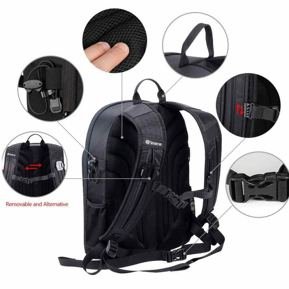 Image 4 - Smatree Backpack for DJI Mavic 2 Pro/Zoom for DJI OSMO Pocket/OSMO Action/Gopro 7/6/5/4/3/3+Camera/Video Bags   -
