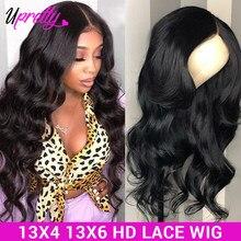 Perruque Lace Front Wig brésilienne naturelle-Upretty Hair, perruque Lace Front Wig transparente HD 13x6, 28 30 pouces 13x4