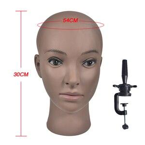 Горячая Распродажа африканская голова манекена без волос для парика шляпа дисплей косметология голова манекена кукла женщина лысый