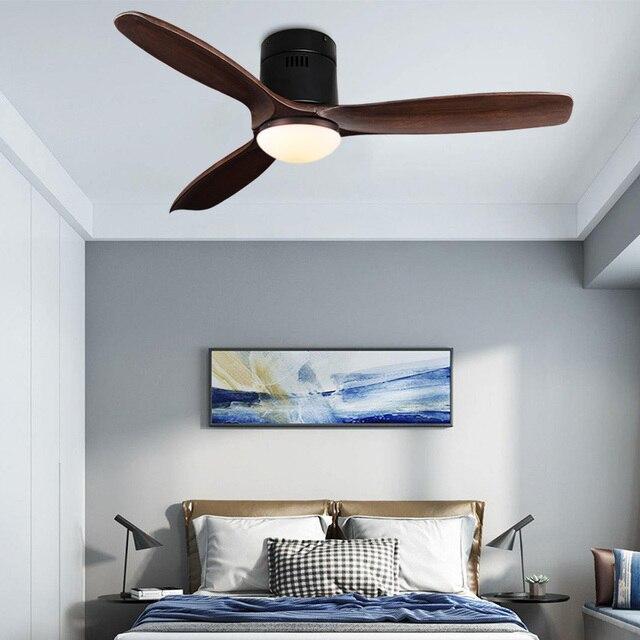 Фото потолочный вентилятор без лампы 52 дюйма с дистанционным управлением