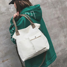 Korean Over Students Canvas HandbagCasual Shoulder Bag Women Female Lrregular Crossbody Bag Ladies Messenger Bag Large Capacity(China)