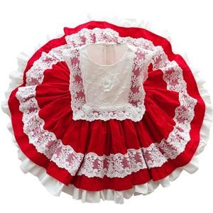 Испанские платья для детей, летняя хлопковая одежда для девочек, кружевное бальное платье в стиле Лолиты с цветами, одежда для дня рождения, ...