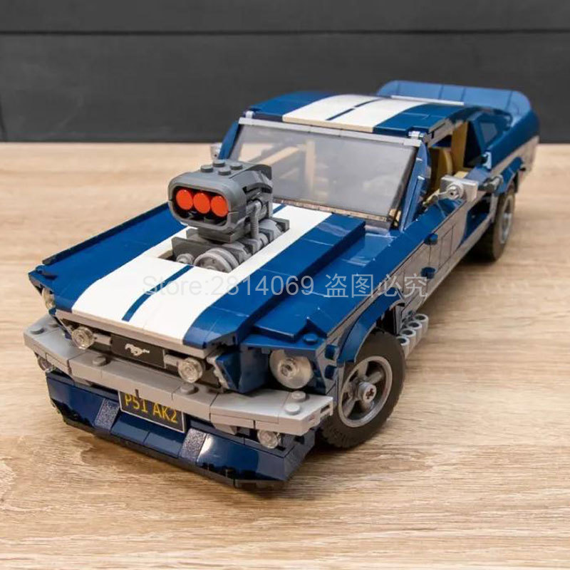 Bricks Toys Building-Block Mustanged Creator Muscle Classic Forded 21047 10265 American title=