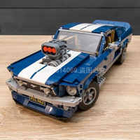 21047 créateur Forded voiture à bride classique américain Muscle voiture de course véhicule bloc de construction briques jouets compatibles avec 10265
