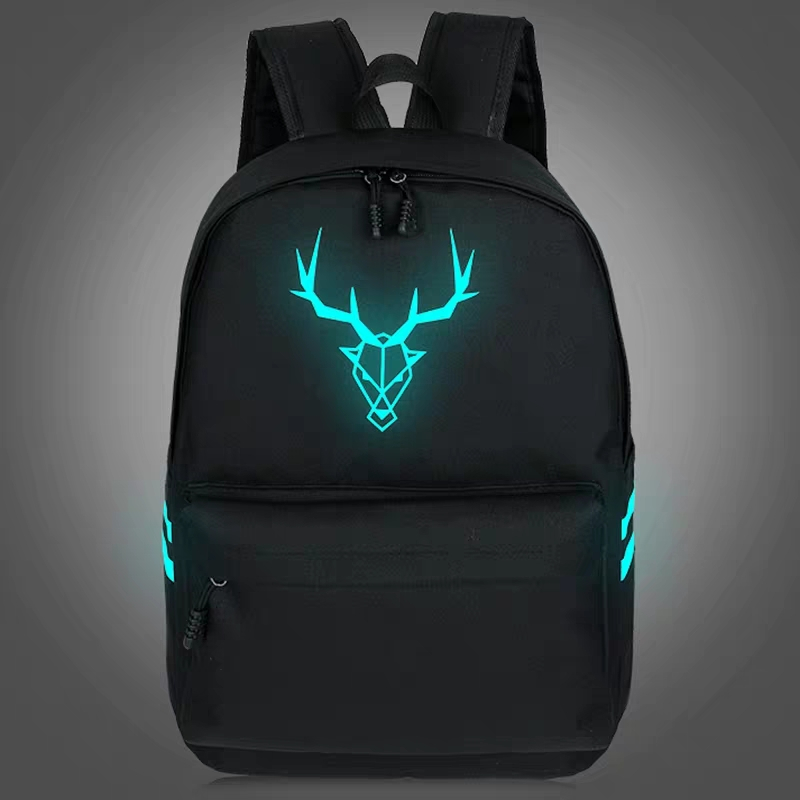 2020 New Canvas Luminous Backpack Female Korean Version Men's Leisure Computer Backpack Student Bag College Style Travel Bag