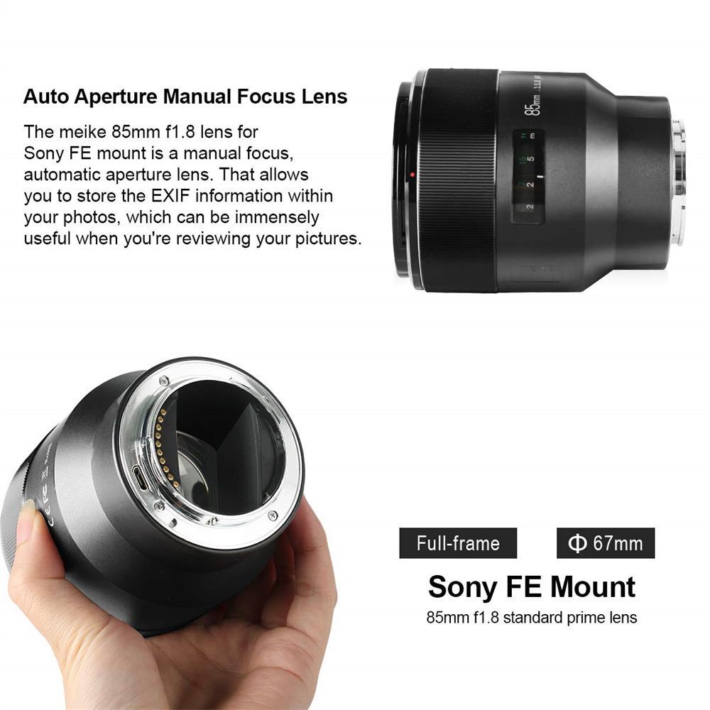 Meike 85mm F1.8 E Mount Manual Focus Suitable for APS-C Full Frame