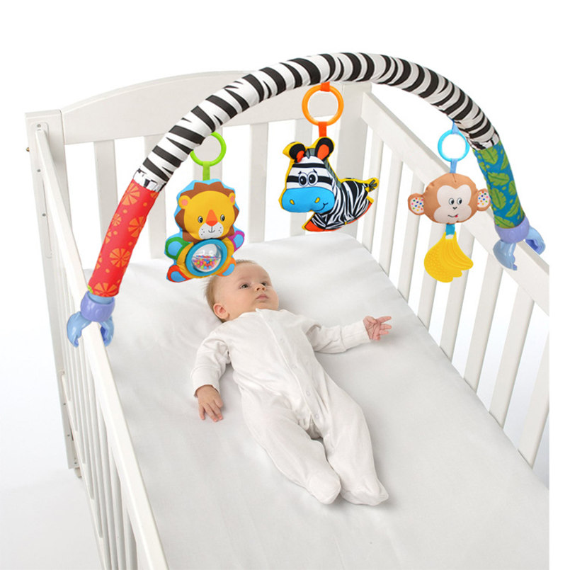 Babies Musical Mobile For Crib Plush Toys Arc On The Bed Toddlers Rattle Newborn Baby Boy Girl Toy For Stroller Kids 0-12 Months