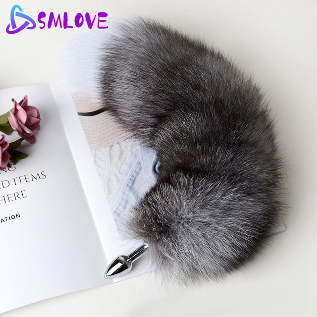 Separable Anal Plug Real Fox Tail Cosplay Butt Plug Anal Sex Tail Adult Products Anal Sex Toys for Woman Couples Men Sexy Shop 3