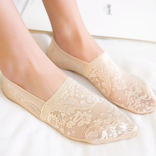 1/2Pairs FashionWomen Girls Summer Socks Style Lace Flower Short Sock Antiskid Invisible Ankle 2020 Sox Slippers Breathable