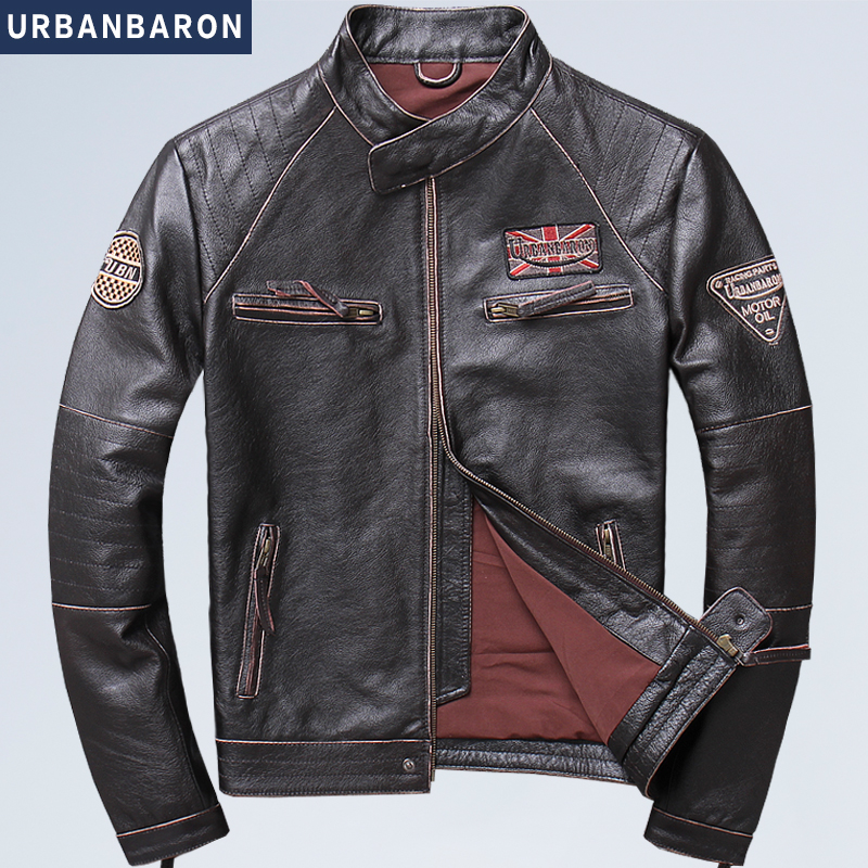 Free shipping plus motor Brand style Vintage men s quality genuine leather Jackets slim 100 natural Free shipping plus motor Brand style Vintage men's quality genuine leather Jackets slim 100% natural cowhide jacket.leather coat