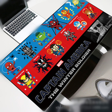 Avengers Large Size Mouse pad Gamer 70x30cm Cartoon Skid Locking Edge Durable Mousepad Notebook Office Mat Desk mat Portable