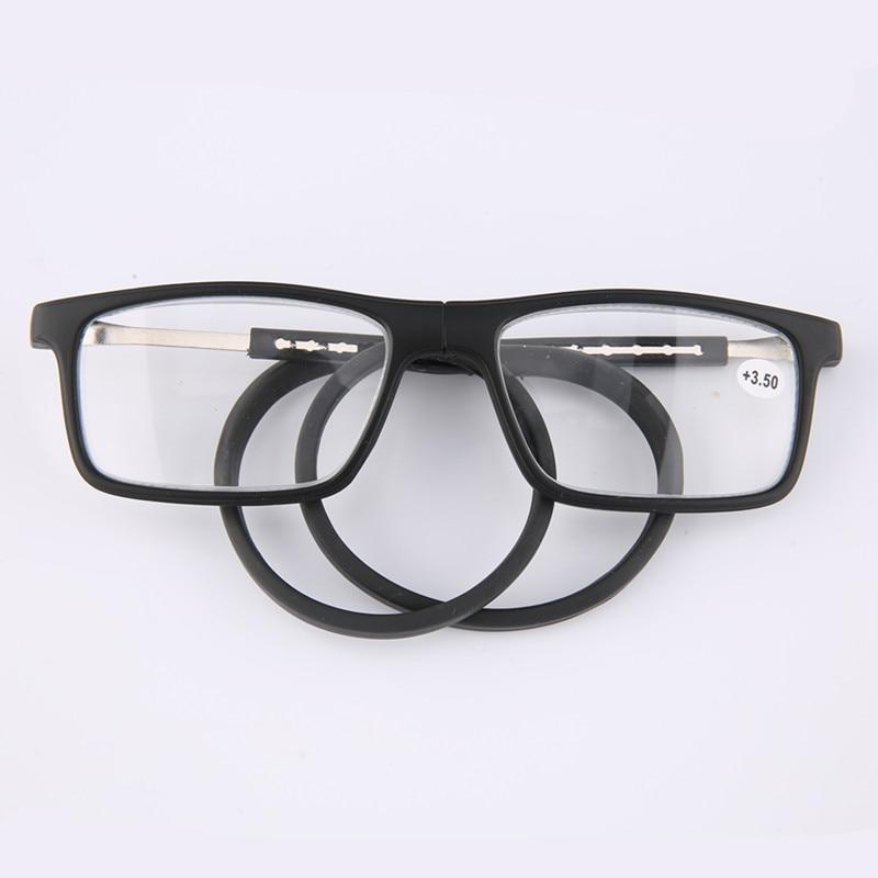 Men And Women Glasses Adjustable Hanging Neck Magnetic Soft  Magnetic Vintage Folding Unisex Magnet Reading Reading Eyeglasses