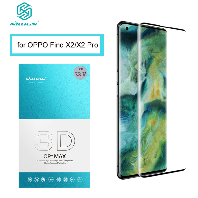For OPPO Find X2 Tempered Glass NILLKIN 3D CP+MAX 3D Arc Edge Full Coverage 0.33 MM Screen Protector For OPPO Find X2 Pro Film