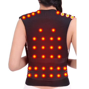 Tourmaline Self Heating Posture Corrector Belt with Nano Infrared Acupuncture Dot Matrix to Support Spine and Shoulder Helps to Relieve Pain in Back and Joints