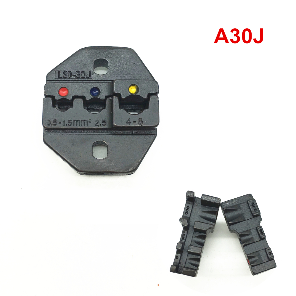 Crimping Die Set A30J For Insulated Terminal And Cable Link 20-10AWG 0.5-6mm2