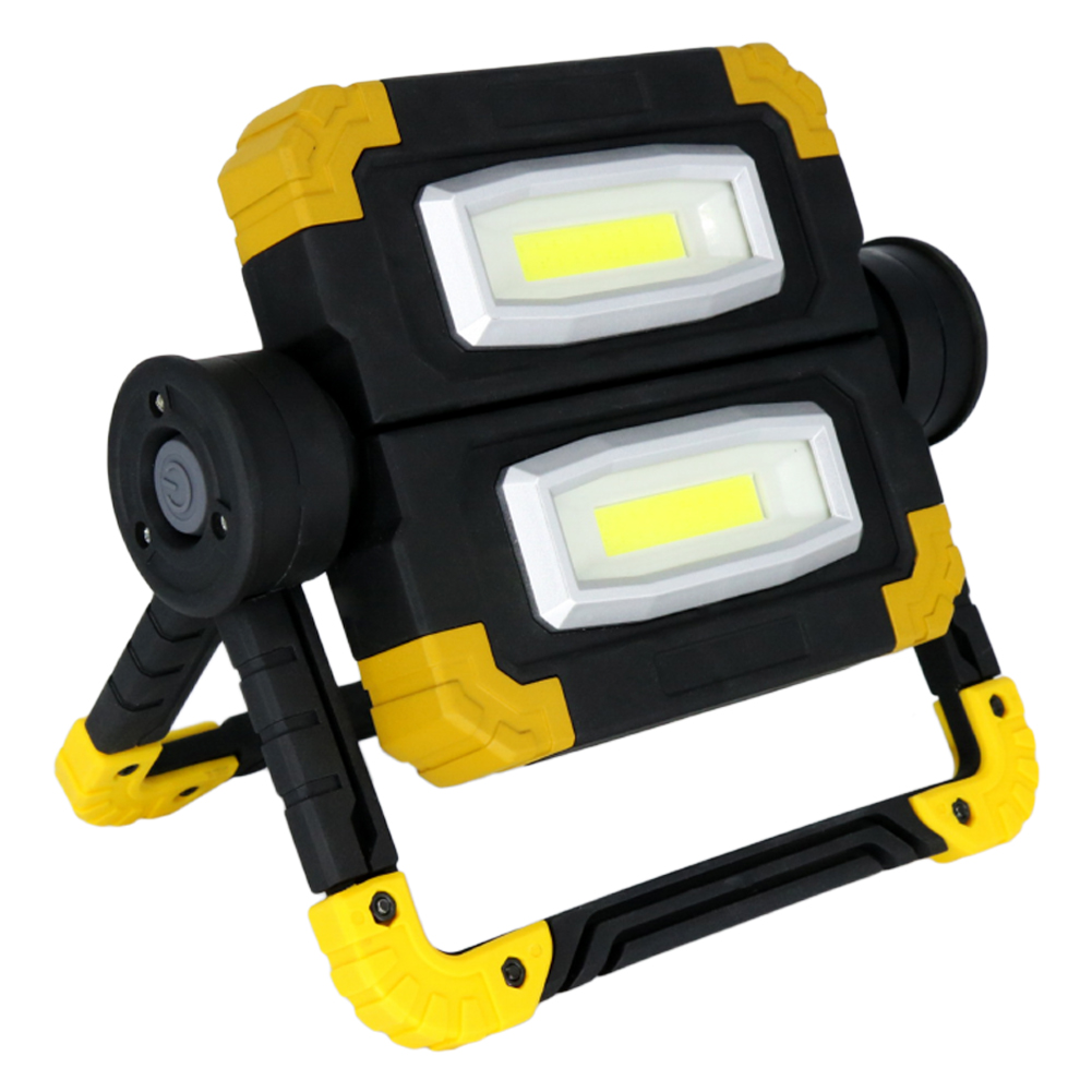 Professional 360 Degree Rotation Portable Construction Site Desktop COB LED Folding High Bright Workshop Handheld Work Light