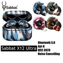 Sabbat X12 Ultra TWS bluetooth 5.0 Earphone QCC3020 CVC8.0 HD Call DSP Noise Reduction Waterproof Sport Headset with Mic