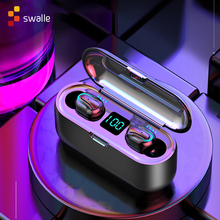Swalle Bluetooth 5.0 Earphones TWS Wireless Headphones Blutooth Earphone Handsfree Headphone Sports Earbuds Gaming Headset Phone