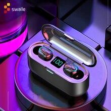 Swalle Bluetooth 5,0 Kopfhörer TWS Drahtlose Kopfhörer Blutooth Kopfhörer Freihändiger Kopfhörer Sport Ohrhörer Gaming Headset Telefon