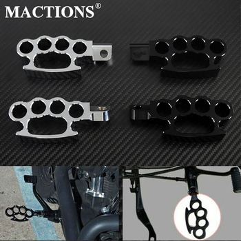 Flying Knuckle Footpegs Footrests Custom Pedal Black Chrome For Harley V-Rod Sportster 883 1200 XL Dyna Street Bob FXDB Softail for harley 5 3 4 motorcycle projector daymaker led lamp headlight 5 3 4 for harley sportster iron 883 dyna street bob fxdb