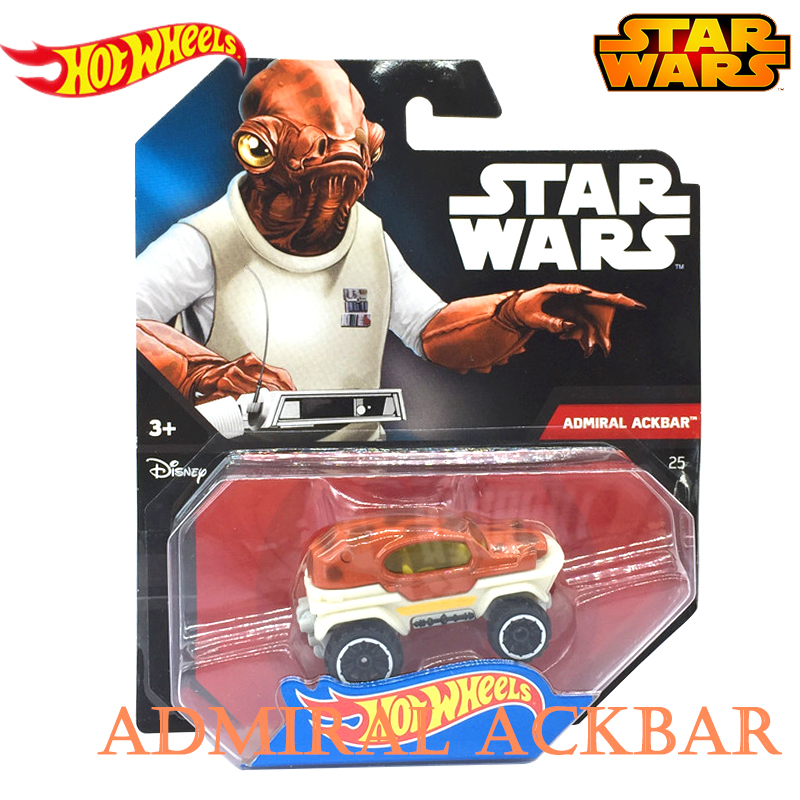 Star Wars Movie Same Style Genuine Hot Wheels Theme Series Role Car Admiral ackbar Model Collection Toys of Kids CWG35