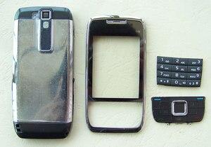 Image 1 - NUEVA cubierta de cobertura completa y teclado para Nokia E66, color blanco y gris