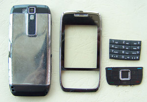Image 1 - New Full Housing Cover Case AND Keypad Keyboard for Nokia E66 White Grey