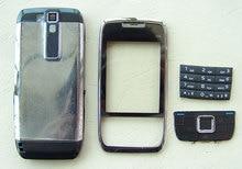 Nouveau boîtier complet et clavier clavier pour Nokia E66 blanc gris