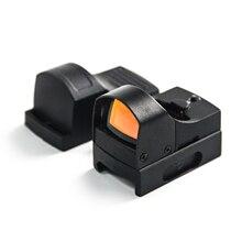GUGULUZA אדום Dot Sight היקף טקטי מיני קומפקטי הולוגרפית מתכוונן בהירות מיקרו רפלקס נקודה אדומה אור רובה אקדח