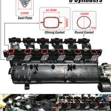 WLR-6x33 мм дизельные закрученные заслонки болванки Замена бугны с прокладкой впускного коллектора для BMW 320d 330d 520d 525d 530d 730d