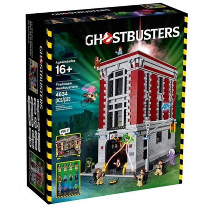 In Stock 16001 Lepining City Ghostbusters Firehouse Headquarters Building Block Kits Set Figures Brick Toy 75827