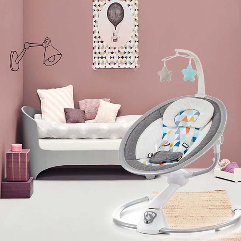 Electric Baby Rocking Chair 0 3 Baby Safety Cradle Rocking Chair Soothing Baby s Artifact Sleeps Electric Baby Rocking Chair 0-3 Baby Safety Cradle Rocking Chair Soothing Baby's Artifact Sleeps Newborn Sleeping Free Shipping