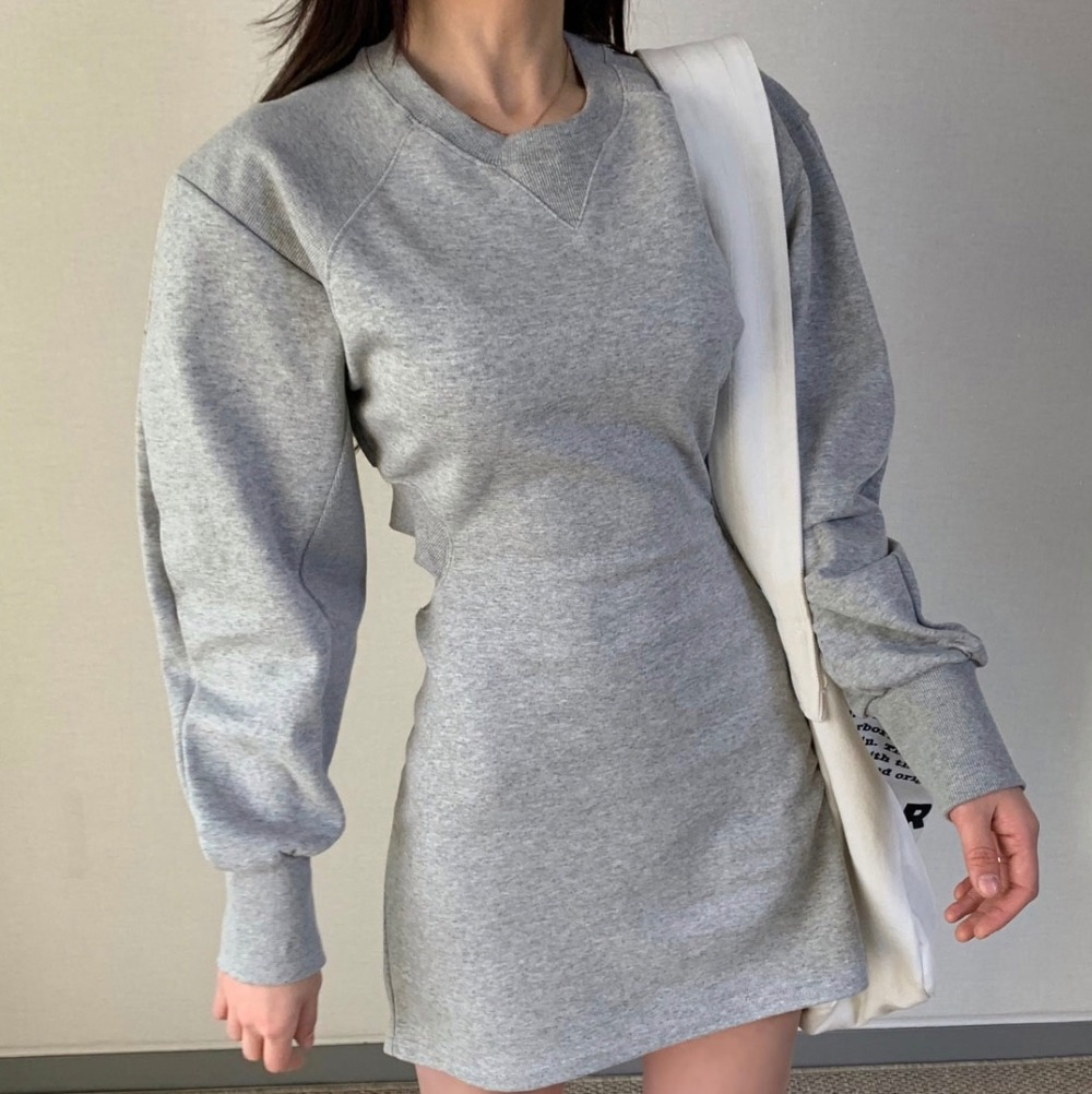 H5ea43a94a25e4be6a13e63c7347f4485w - Autumn O-Neck Long Sleeves Solid Backless Minimalist Mini Dress