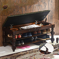 Estados unidos da américa de madeira maciça completa fezes sapato teste gabinete europeu sapato fezes porta de armazenamento fezes de sapato fezes de armazenamento