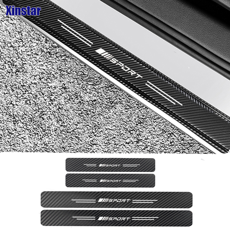 4pcs carbon fiber car door protection sticker for <font><b>Mercedes</b></font> Benz <font><b>AMG</b></font> w117 <font><b>cla45</b></font> w205 c63 w212 e63 w207 w213 a45 image