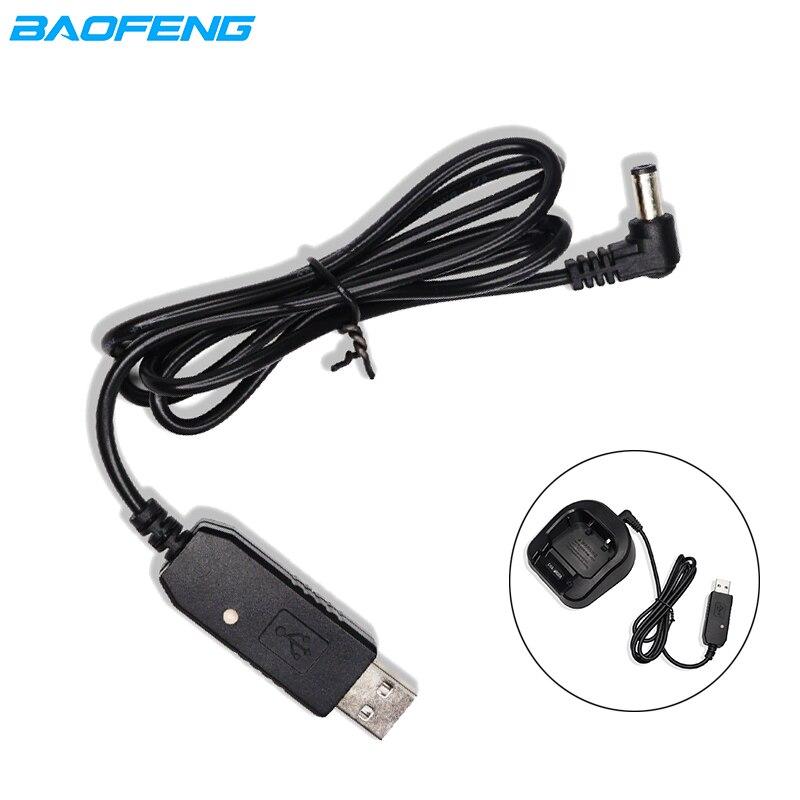 Original Baofeng USB Charging Cable Wire Walkie Talkie Charger Cord For UV-5R UV-82 UV-9R Plus UV 5R Pro Uv9r Uv82 Uv 5r Radio