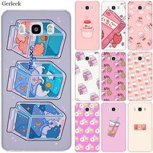 Mobile Phone Case untuk Samsung S7 Edge S8 S9 S10 S10e Note 8 9 10 Plus M10 M20 M30 M40 cover Jepang Kawaii Strawberry Makanan Susu(China)
