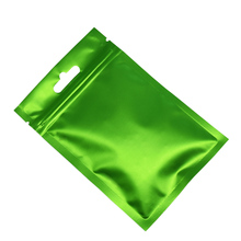 9x15cm Green Aluminum Foil Heat Seal Food Vacuum Package Bag For Snack Beans Clear Plastic Packaging Flat Mylar Pack Pouches