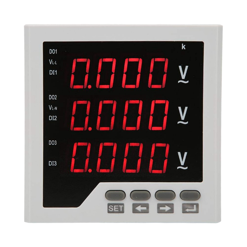 Voltage Detector DTM-AV96 3 Phase Voltage Meter Programmable LED Digital Display Voltmeter AC 450V