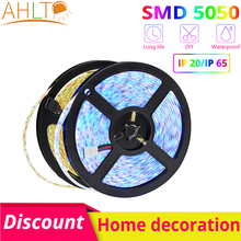 5m 300Leds 5050 SMD DC 12V IP65 Waterproof Flexible LED Lights White Blue RGB Home Party Holiday Decoration Garden Lighting Neon