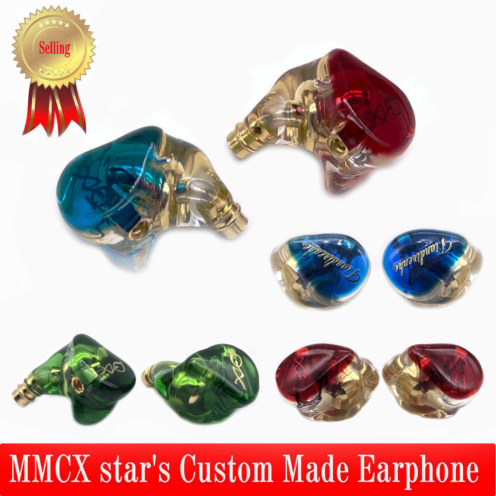 Custom Made MMCX Earphone Noise Canceling star's Headphone Replaceable  sport Headset MMCX Cable For Shure SE215 Earpiece