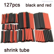 Heat Shrink Tube 127PCS 2:1 Polyolefin Heat cable wire Shrink Tube Shrinkable Sleeve Insulation Wire shrinkable heatshrink Tube