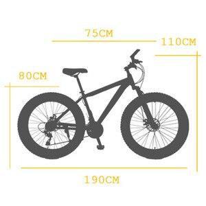 Image 5 - זאב של פאנג אופניים הרי אופני 21 מהירות אלומיניום סגסוגת מסגרת שומן אופני שלג אופני קדמי ואחורי מכאני דיסק brade זכר